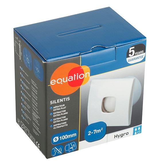 Extractor Baño Funcion:Extractor de baño Equation SILENTIS 100 HIGROSTATO Ref 14171780
