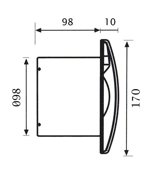 Extractores De Baño Para Falso Techo:Extractor de baño Equation SILENTIS 120 STANDARD Ref 14171794
