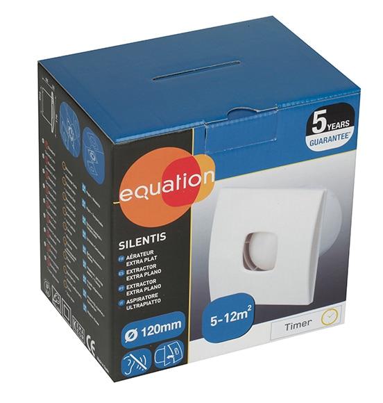 Extractor Baño Falso Techo:Extractor de baño Equation SILENTIS 120 TIMER Ref 14171801 – Leroy