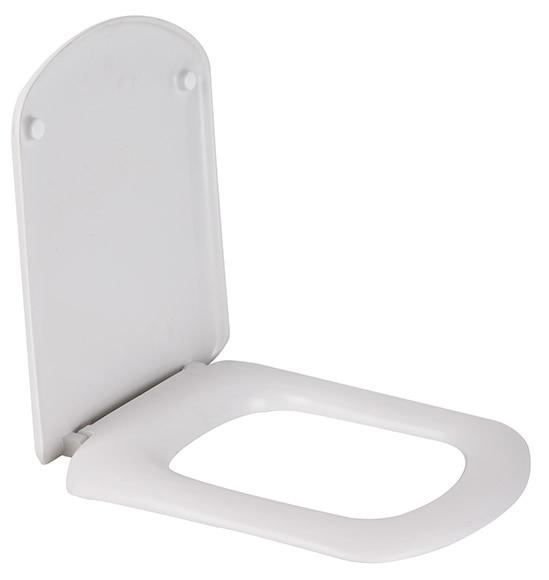Tapa de wc compatible dama senso blanco ref 16627373 for Tapas de wc universales