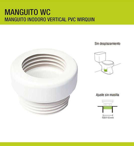 Manguito para wc wirquin ref 11440275 leroy merlin - Triturador wc leroy merlin ...