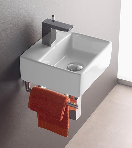 Toallero de lavabo bermeo bergamo ref 13865334 leroy merlin for Toallero lavabo