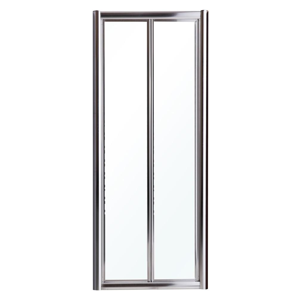Mampara de ducha mezzo frontal plegable transparente cromo - Mamparas de ducha plegables leroy merlin ...