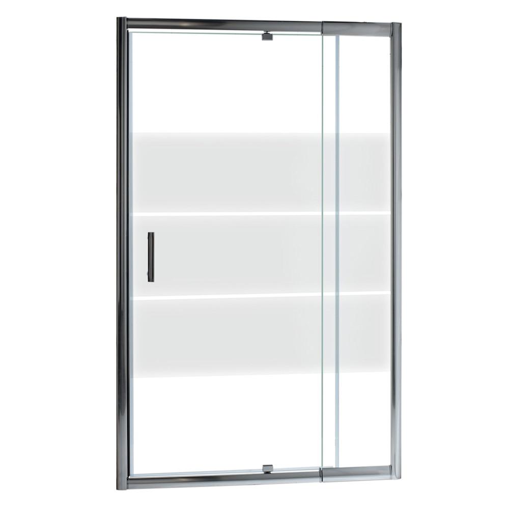 mampara de ducha optima ii frontal abatible cromo ref 14898506 leroy merlin. Black Bedroom Furniture Sets. Home Design Ideas