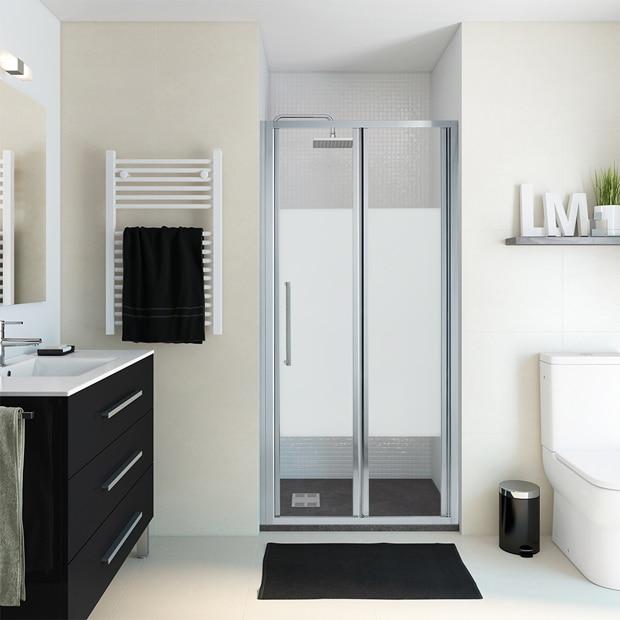 Mamparas de ducha frontales leroy merlin - Mampara plegable ducha ...