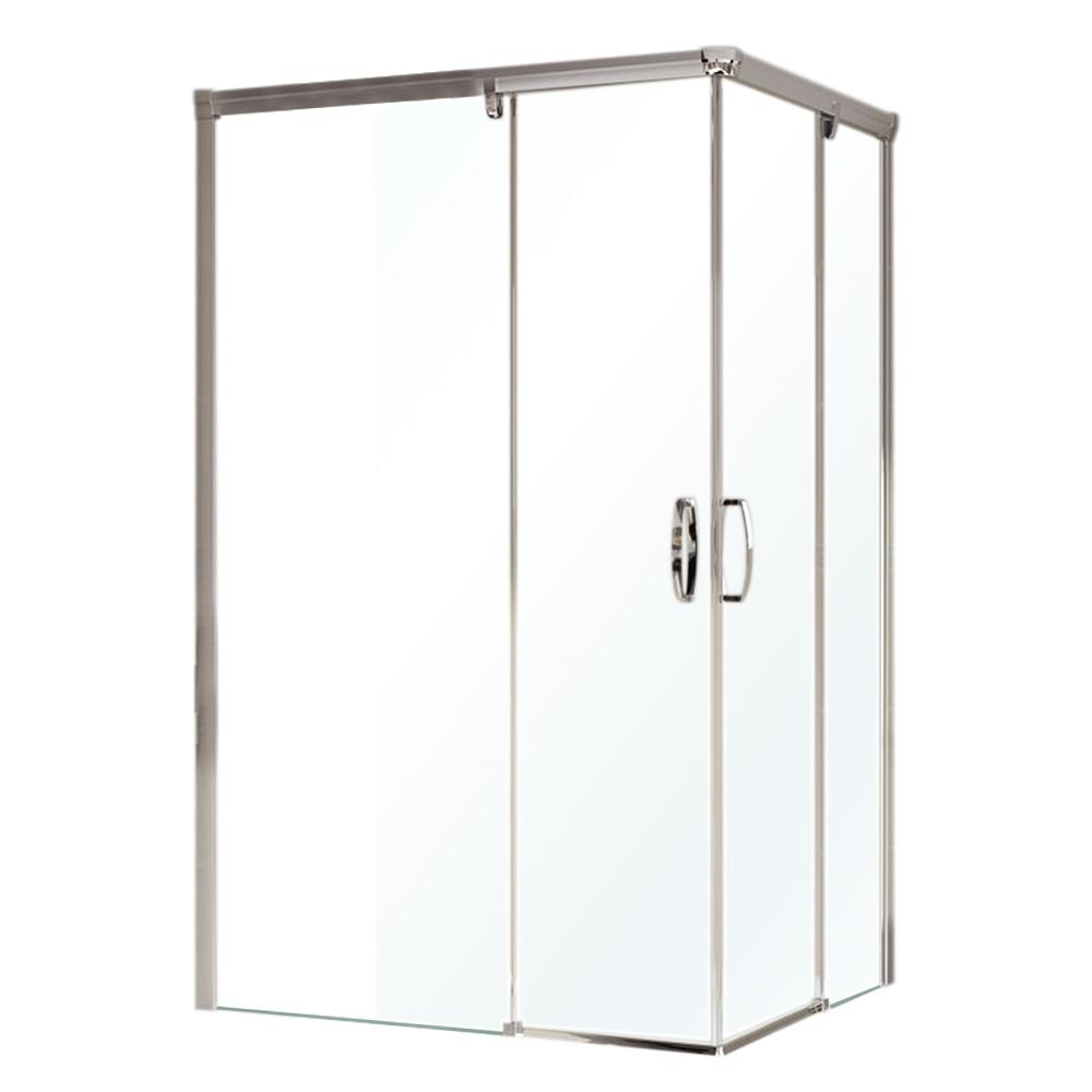 Mampara de ducha aura rectangular izq transparente mate for Mampara ducha rectangular