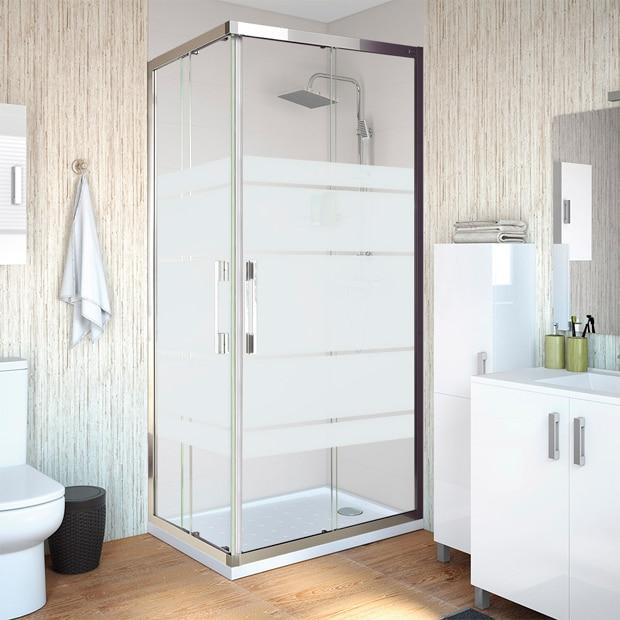 mamparas de ducha para platos rectangulares leroy merlin