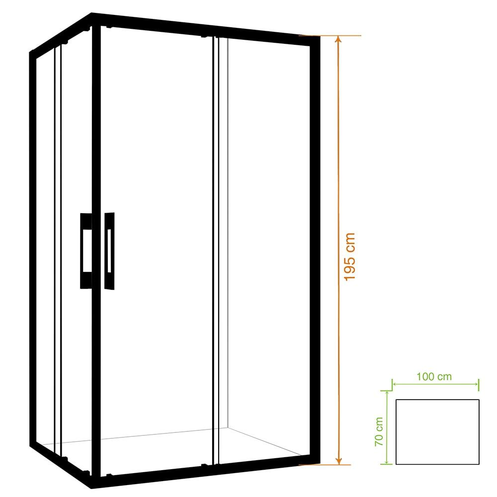 Mampara de ducha clear rectangular transparente ref for Metacrilato transparente leroy merlin
