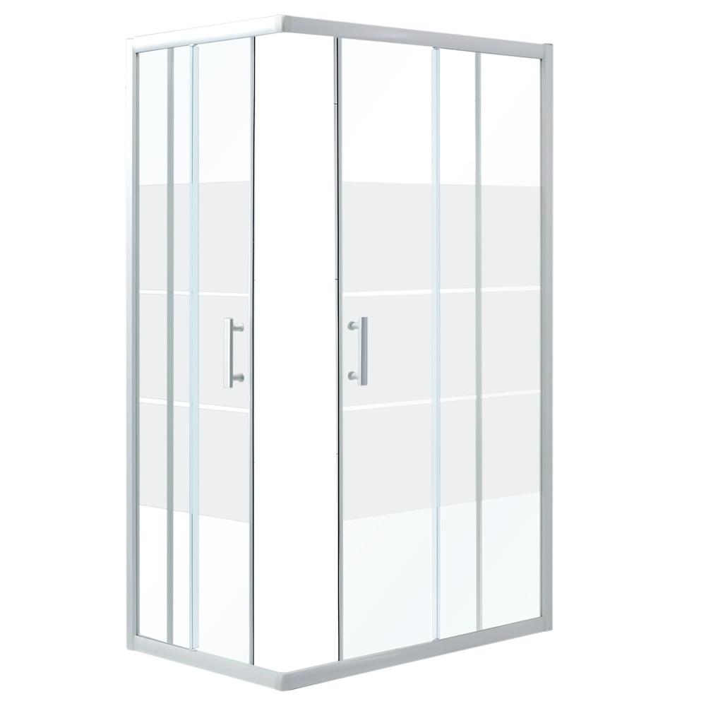 mampara de ducha sensea optima ii rectangular blanca ref 14090664 leroy merlin. Black Bedroom Furniture Sets. Home Design Ideas