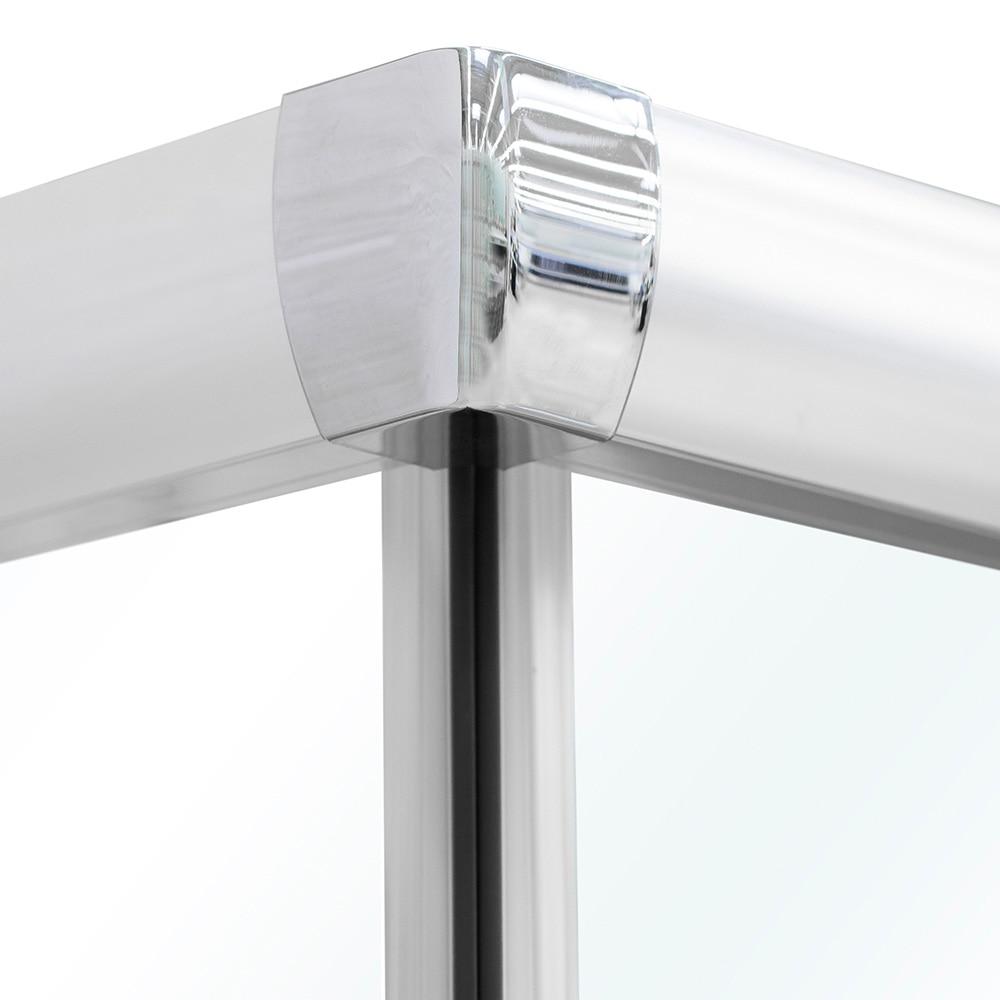 mampara de ducha sensea optima ii rectangular cromo ref 14090615 leroy merlin. Black Bedroom Furniture Sets. Home Design Ideas