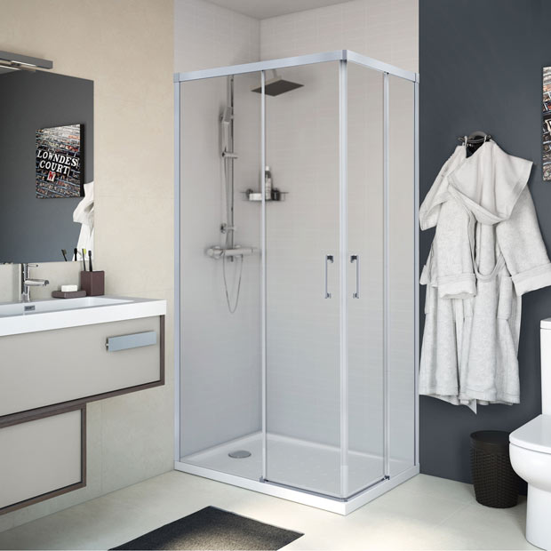 Mamparas de ducha para platos rectangulares leroy merlin - Platos de ducha con mampara ...