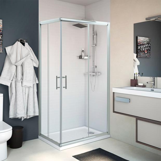 Mamparas de ducha para platos rectangulares - Leroy Merlin