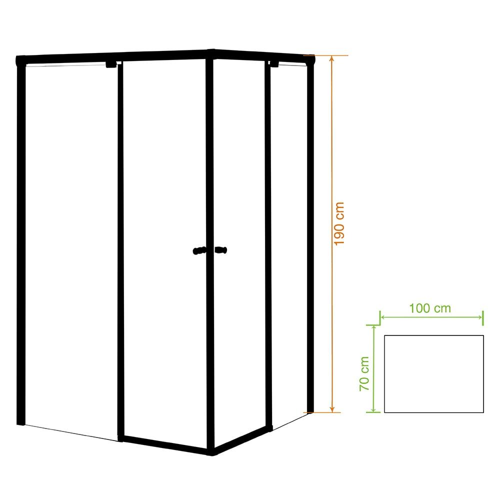 Mampara de ducha tempo rectangular izq transparente cromo for Mampara ducha rectangular