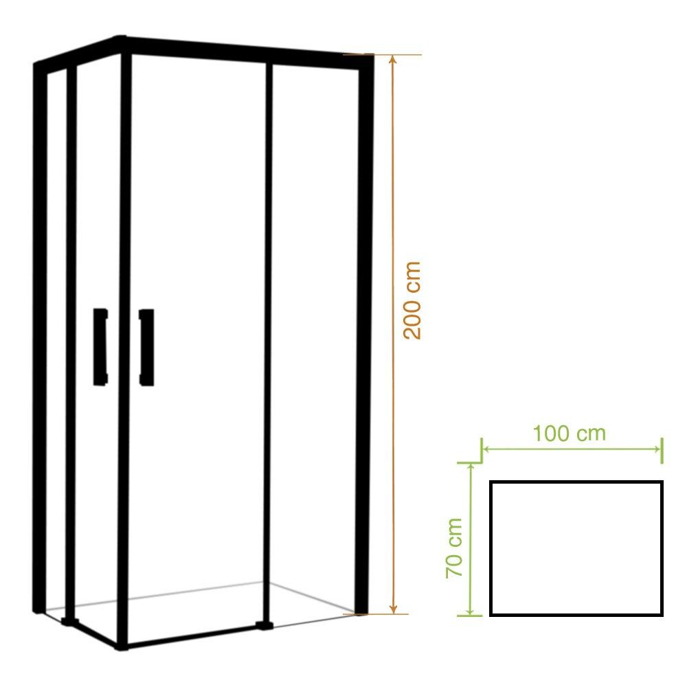 Mampara de ducha trend rectangular transparente cromo ref for Mampara ducha rectangular
