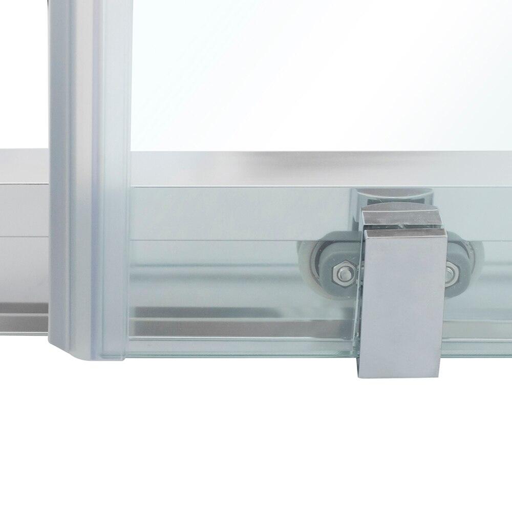 Mampara de ducha clear cuadrada transparente ref 16559683 for Metacrilato transparente leroy merlin