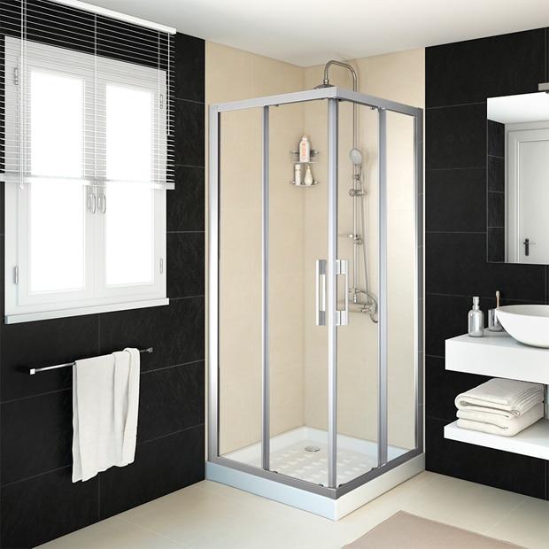 Mamparas de ducha para platos cuadrados leroy merlin for Banos completos leroy merlin