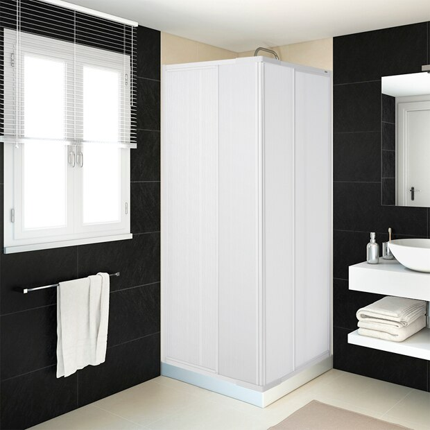 Mamparas de ducha para platos cuadrados leroy merlin for Tipos de mamparas para platos de ducha