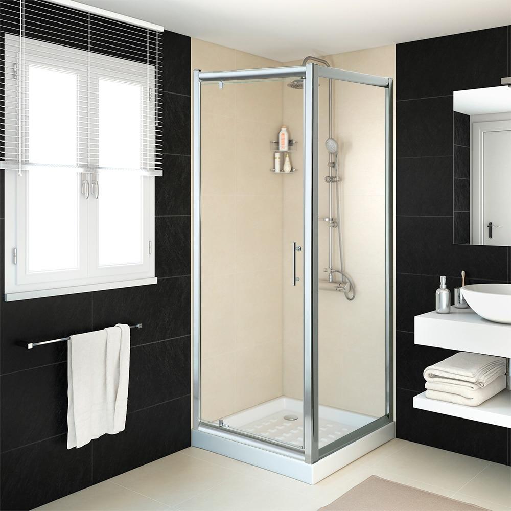 mampara de ducha sensea mezzo pivot cromo transparente ref