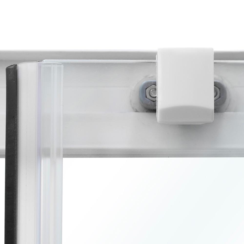 mampara de ducha sensea optima ii cuadrada blanca ref 14090741 leroy merlin. Black Bedroom Furniture Sets. Home Design Ideas