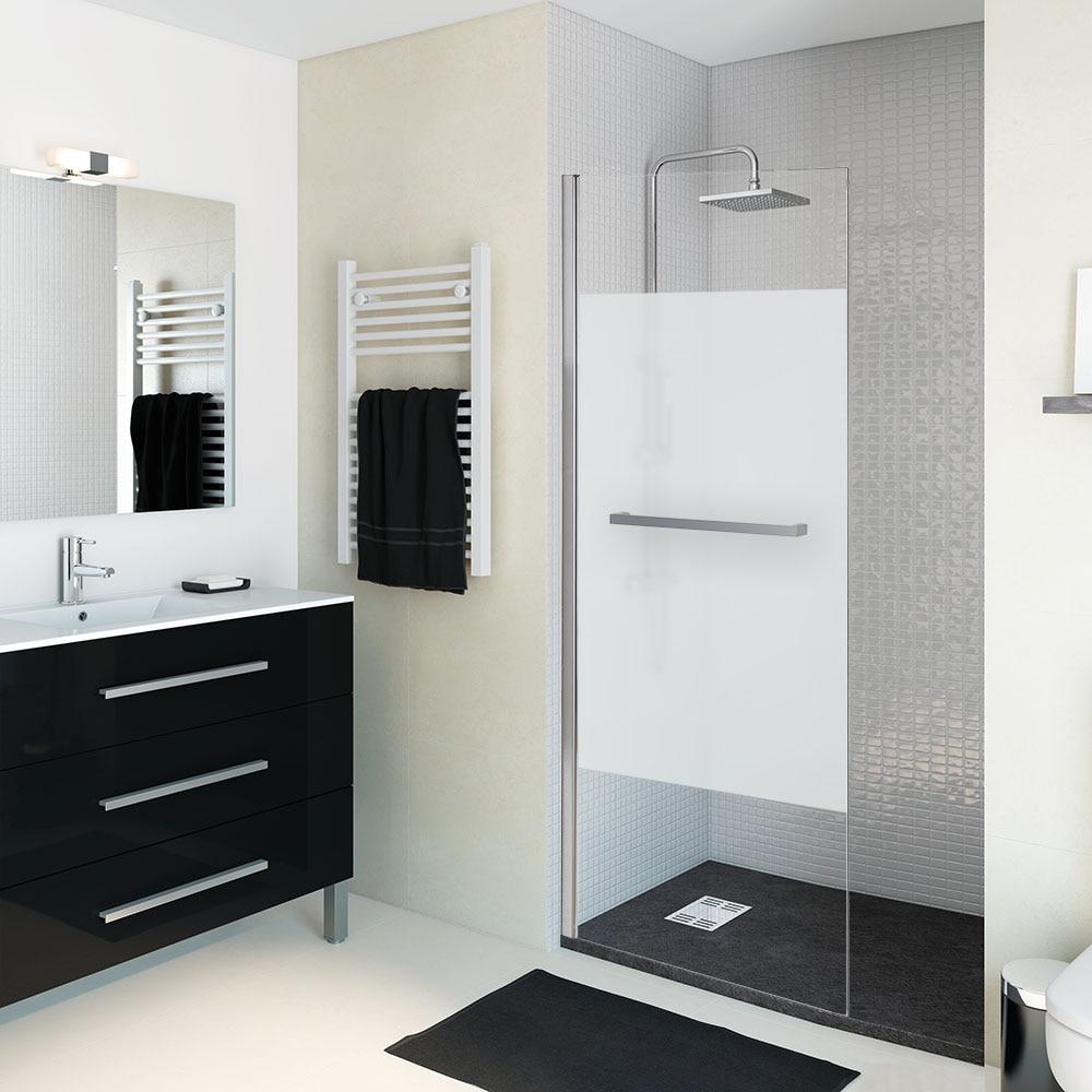 Mampara de ducha sensea panel ducha open ii abatible - Mamparas de ducha frontales leroy merlin ...