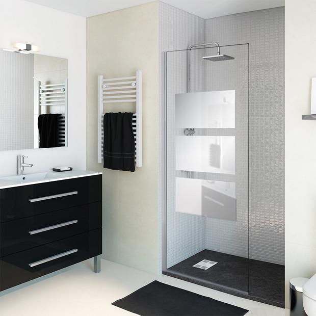 panel ducha solar abatible espejo
