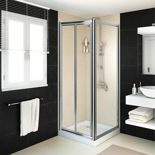 Mamparas de ducha para platos cuadrados leroy merlin - Mamparas para duchas de obra ...