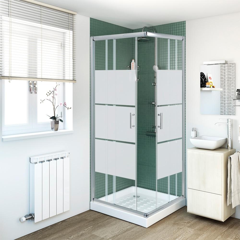 mampara de ducha sensea serie optima c cr sg ref 14090713 leroy merlin. Black Bedroom Furniture Sets. Home Design Ideas