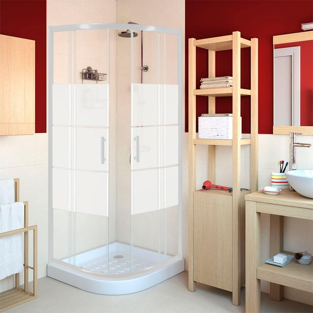 mampara de ducha sensea optima ii curva blanca ref 14090601 leroy merlin. Black Bedroom Furniture Sets. Home Design Ideas
