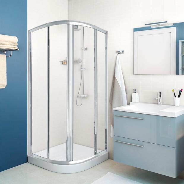 Mamparas de ducha para platos angulares leroy merlin - Mamparas de ducha precios leroy merlin ...