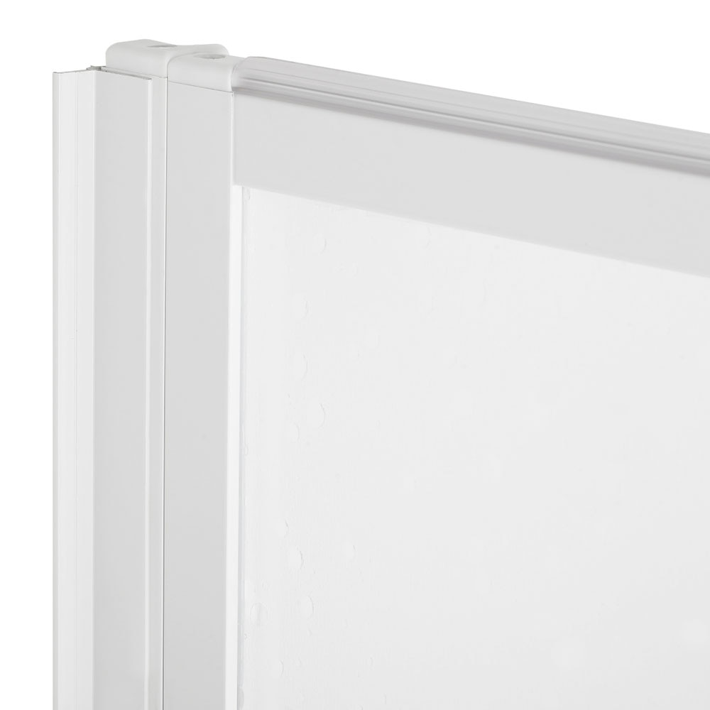 Mampara para ba era g03 3 hojas blanco ref 13073256 for Mampara banera leroy