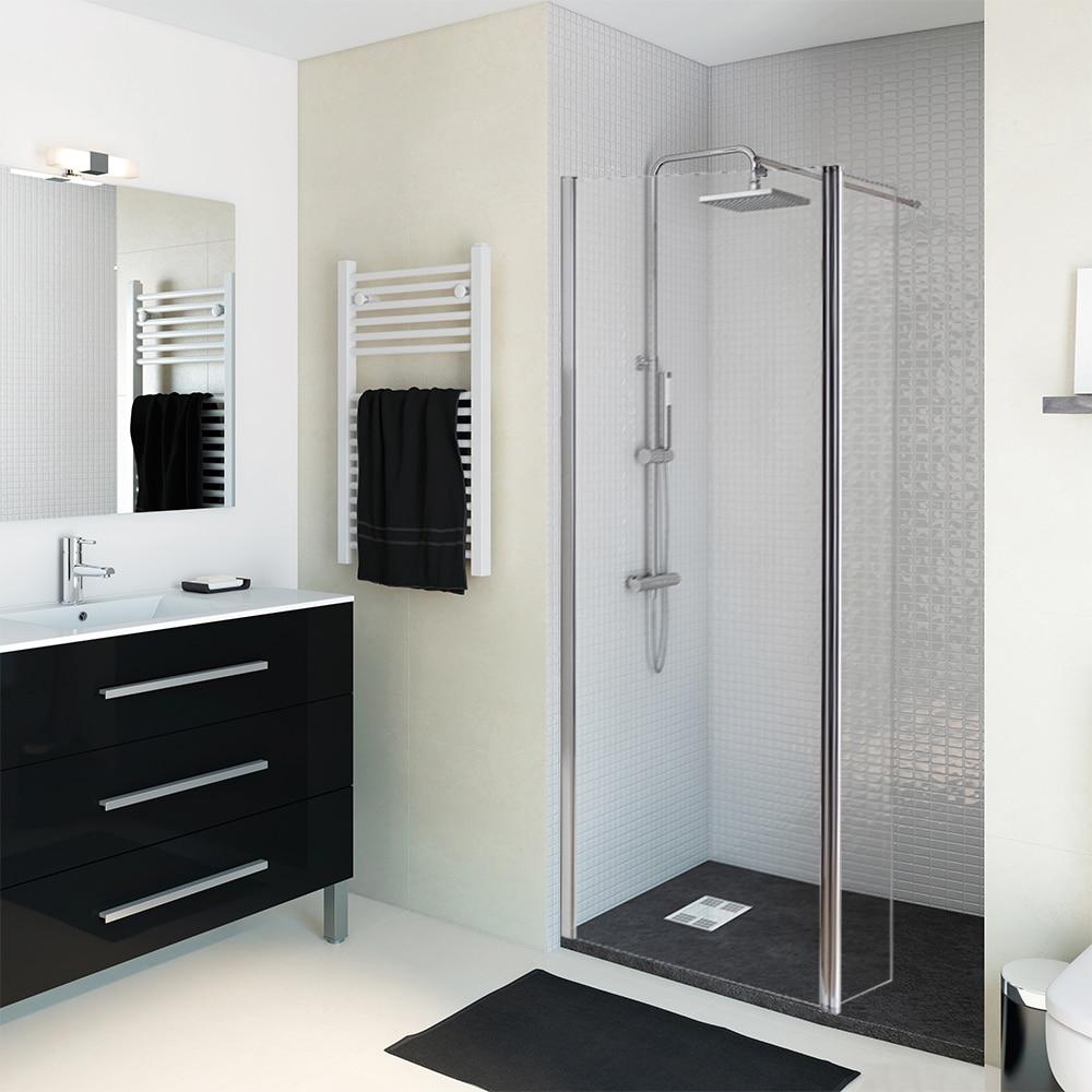 Mampara de ducha sensea panel ducha open ii transparente - Mamparas leroy merlin ...