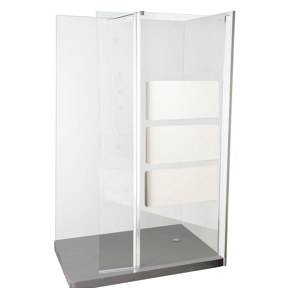 Mampara de ducha sensea panel ducha solar espejo 2 hojas for Ducha jardin leroy merlin
