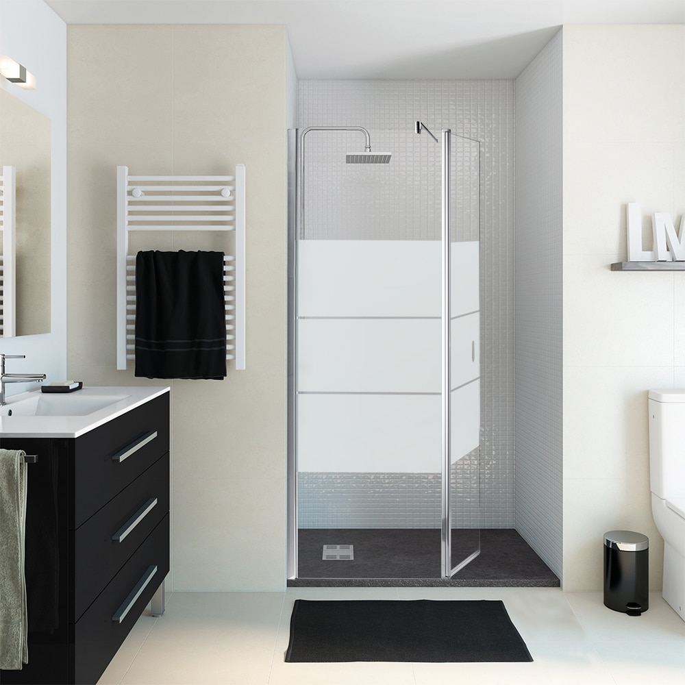 Mampara de ducha panel ducha zen 2 hojas ref 16249996 - Leroy merlin mampara ducha ...