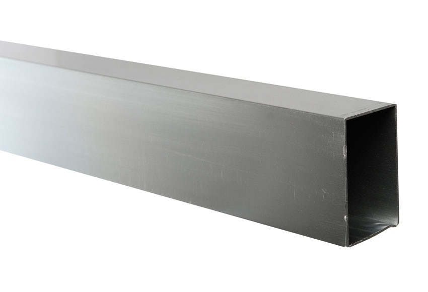 Perfil de mampara rectangular cromo ref 14972104 leroy for Mamparas de leroy merlin