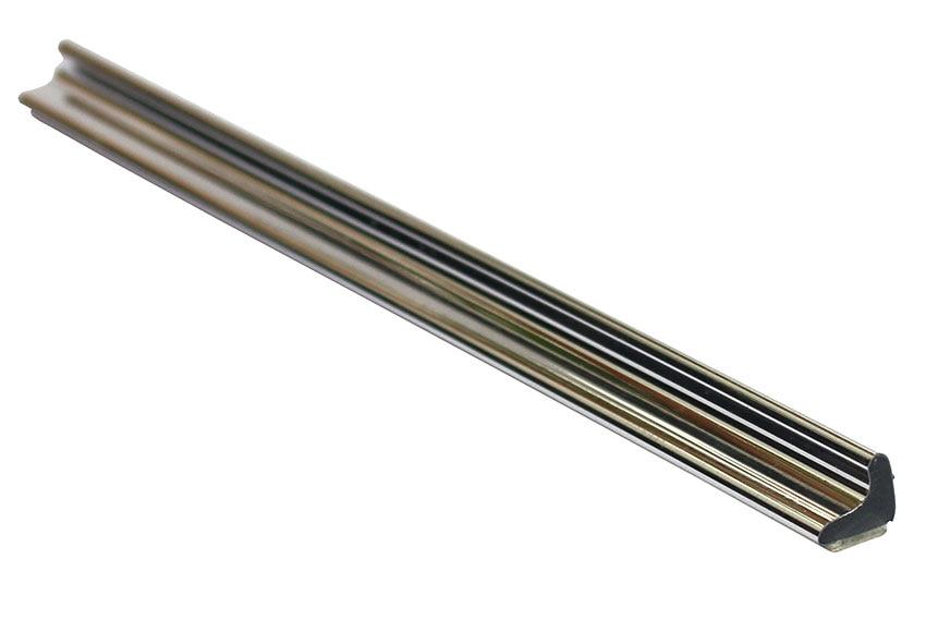 Perfil de mampara vierteaguas cromado adhesivo ref for Perfil u aluminio leroy merlin