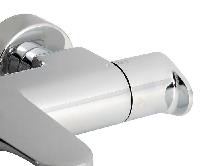 Grifo termost tico de ba era y ducha tt h3 ref 16375961 for Grifo termostatico ducha leroy merlin