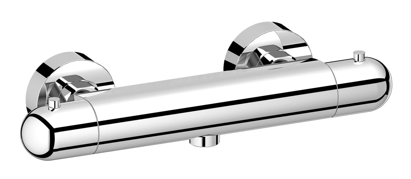 Grifo termost tico de ducha bombon ref 16392201 leroy for Grifo termostatico ducha leroy merlin