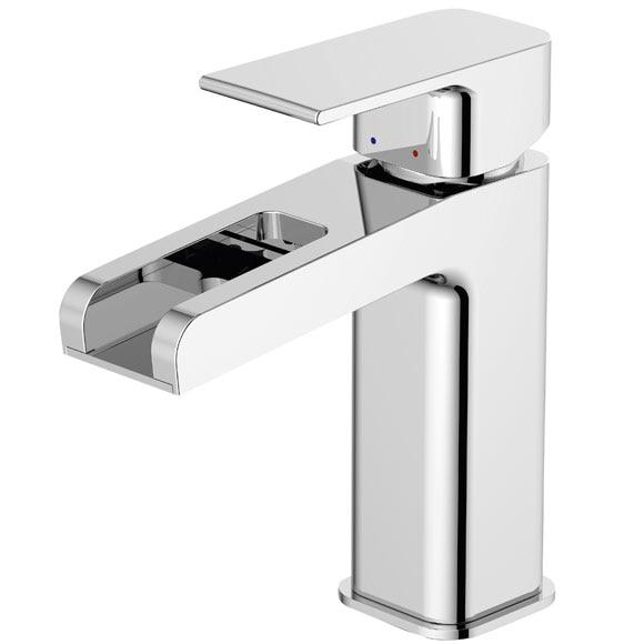 Grifo de lavabo sensea ryo cascada ref 16783991 leroy for Grifos bano leroy merlin