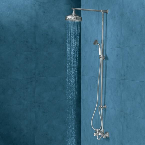 conjunto de ducha sin grifo retro cromo ref 17103842