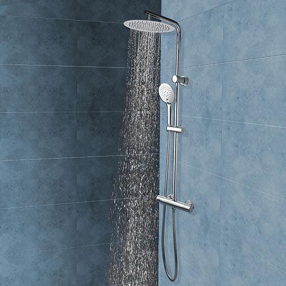 Conjunto de ducha rousseau tt full ref 18879483 leroy - Conjunto ducha leroy merlin ...