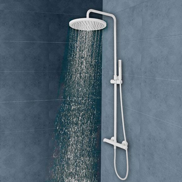 Conjunto de ducha levity blanco ref 19434863 leroy merlin for Conjunto ducha leroy merlin