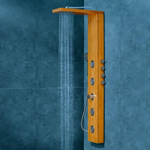 Columna de hidromasaje sensea holoma bamboo ref 17365005 leroy merlin - Columna bano leroy merlin ...