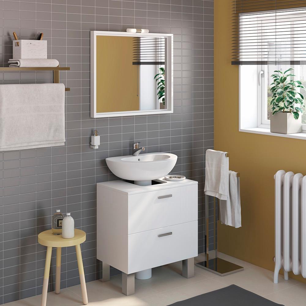 Mueble de lavabo acacia ref 14989282 leroy merlin for Lavabo pietra leroy merlin