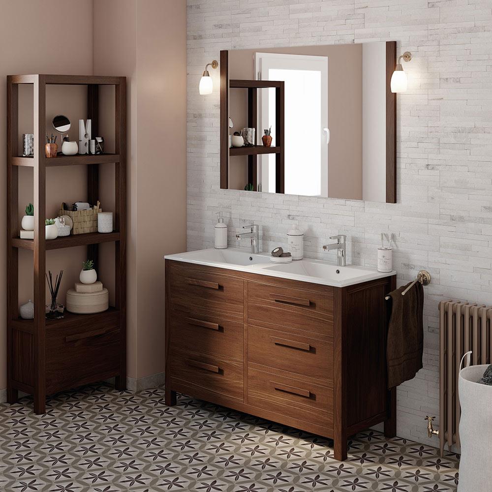 Mueble de lavabo amazonia ref 17863741 leroy merlin for Mueble lavabo