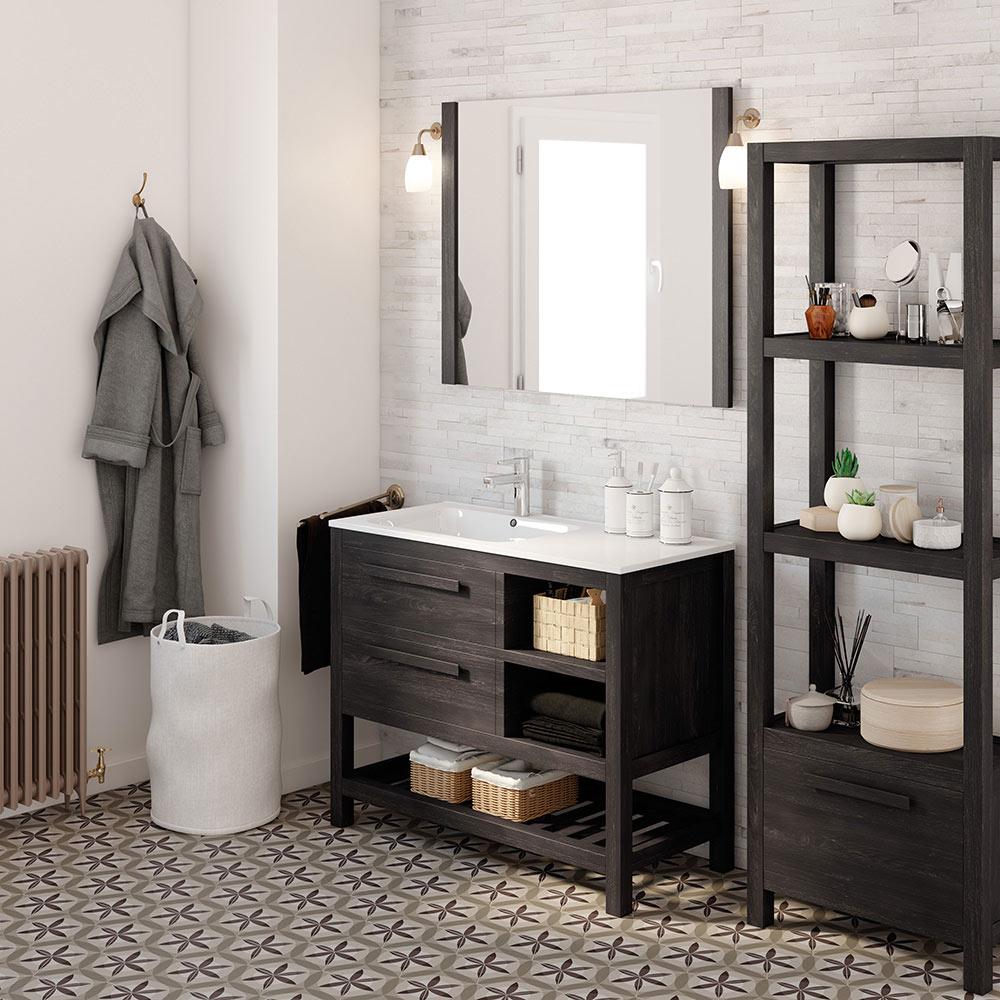 Mueble de lavabo amazonia ref 17864252 leroy merlin for Muebles bano conforama
