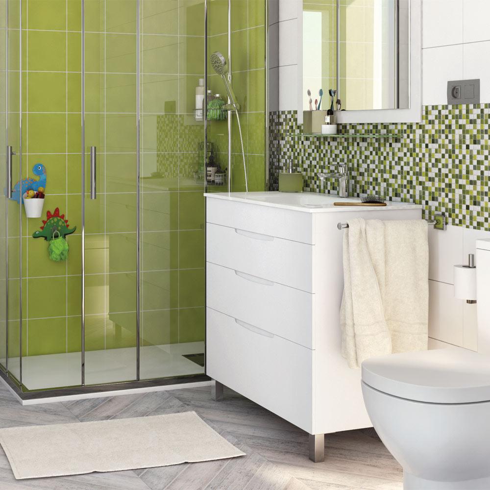 Mueble de lavabo asimetrico ref 17620645 leroy merlin - Mueble lavabo pie leroy merlin ...