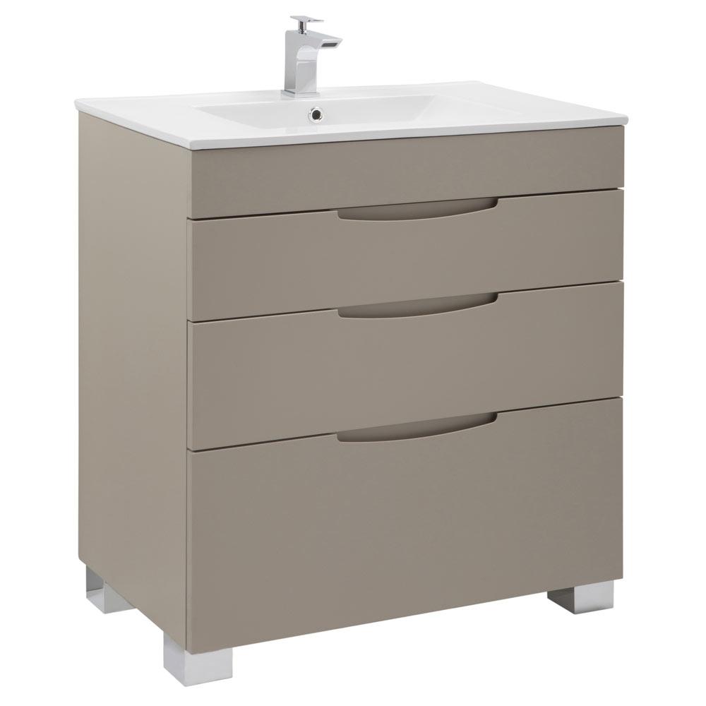 Mueble de lavabo asimetrico ref 17620666 leroy merlin for Mueble auxiliar lavabo