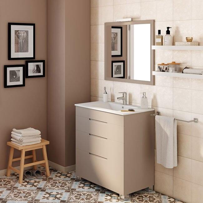 Mueble de lavabo asimetrico ref 17620666 leroy merlin for Mueble para microondas leroy merlin