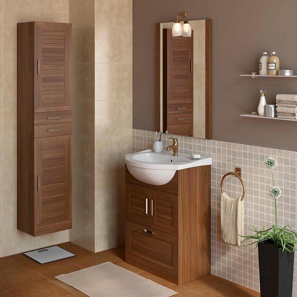 Mueble de lavabo atenas ref 17307031 leroy merlin for Muebles de cuarto de bano grandes