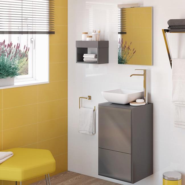 Conjunto de mueble de lavabo belladona ref 15471106 - Muebles para lavabos leroy merlin ...